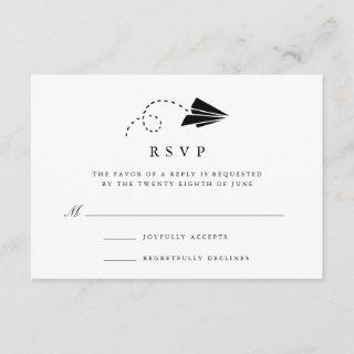 Air Mail | Black and White RSVP Card