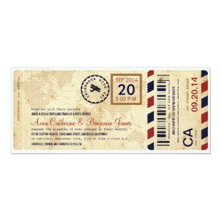Airline Boarding Pass Ticket Wedding Invitations