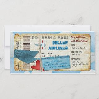 Airplane Party Boarding Pass