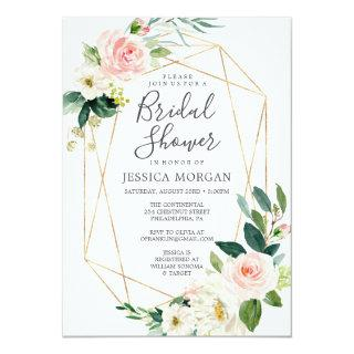 Airy Blush Bridal Shower Invitations