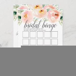 Airy Floral Double-Sided Bridal Shower Game Invitations