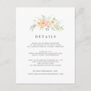 Airy Floral Guest Information Card