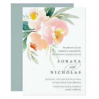 Airy Floral | Wedding Invitation