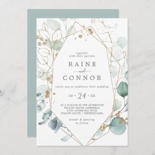 Airy Greenery and Gold Leaf Casual Wedding