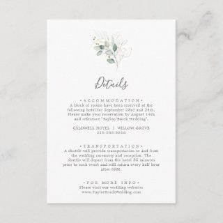 Airy Greenery Wedding Details Enclosure Card