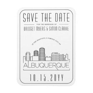 Albuquerque Wedding Stylized Skyline Save the Date Magnet