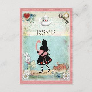 Alice, Flamingo & Cheshire Cat RSVP
