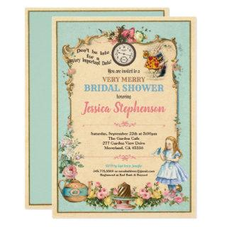 Alice in Wonderland bridal shower invitaion Invitation