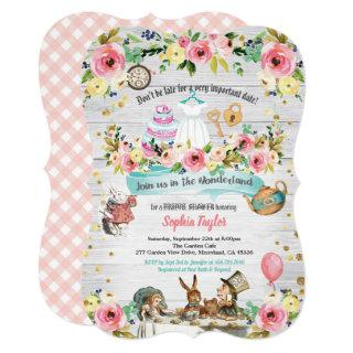 Alice in Wonderland bridal shower Invitations