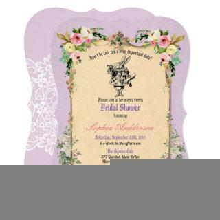 Alice in Wonderland bridal shower Invitations tea