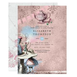 Alice In Wonderland Bridal Shower Tea Party Invitations
