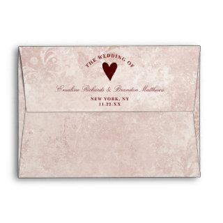 Alice in Wonderland Elegant Vintage Floral Wedding Envelope
