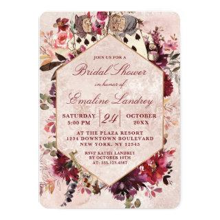 Alice in Wonderland Elegant Wedding Bridal Shower Invitations