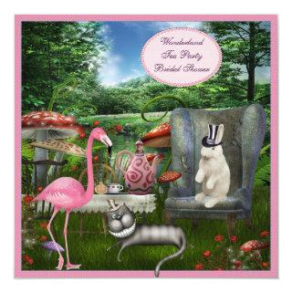 Alice in Wonderland Tea Party Bridal Shower Invitations