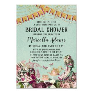 Alice in Wonderland Virtual Bridal Shower Invitations