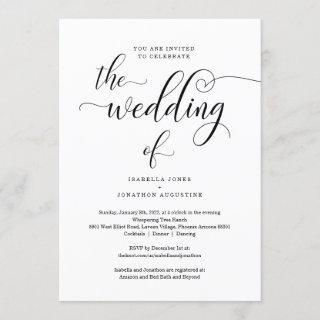 All in One Wedding  with RSVP & Registry