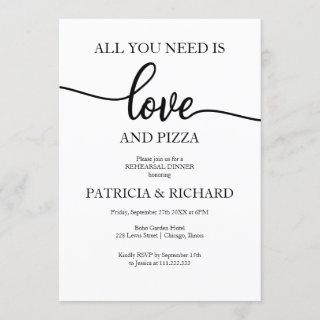 All You Need Is Love And Pizza Rehearsal Dinner