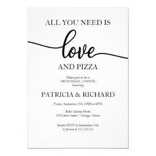 All You Need Is Love And Pizza Rehearsal Dinner Invitation
