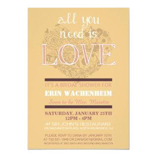 All You Need Is Love Bridal Shower Invitations