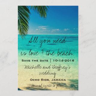 All You Need Is Love & The Beach Save the Date