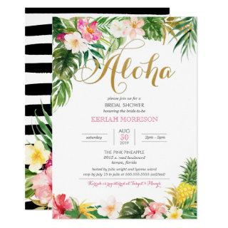 Aloha Summer Tropical or Luau Bridal Shower Invitations