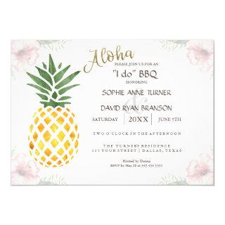 Aloha Tropical Pineapple Beach I DO BBQ Invite