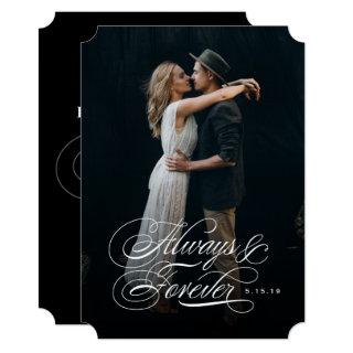 Always and Forever Photo Wedding Invitation