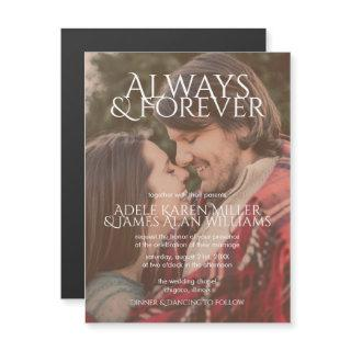 Always & Forever | Custom Photo | Wedding Magnetic Invitations