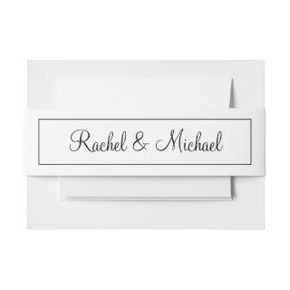 Amazing Black and White Invitation Belly Band