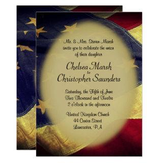 American Flag Military Wedding Invitations