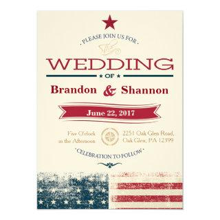 Americana 5.5x7.5 Wedding Announcement