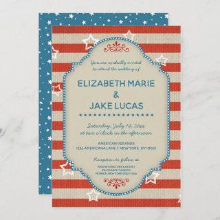 Americana Patriotic Wedding Invitations