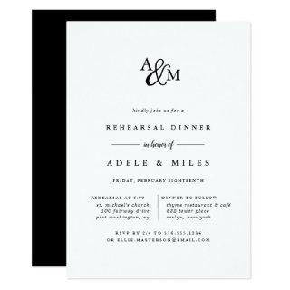 Ampersand Monogram Rehearsal Dinner Invitation