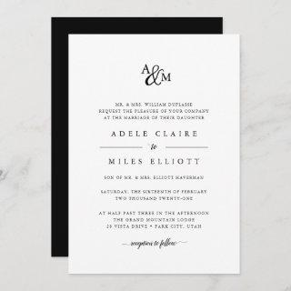 Ampersand Monogram Wedding Invitations