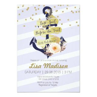 anchor nautical bridal shower Invitations