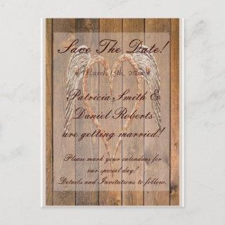 Angel Wings Wedding Announcement Postcard