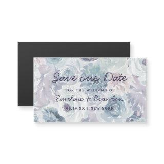 Annabelle Vintage Blue Floral Rustic Save our Date