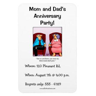 Anniversary Invitations Party Flexible Magnet