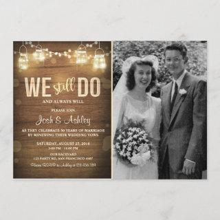 Anniversary Invitations Rustic Vow Renewal Party