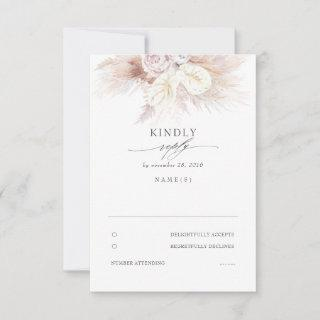 Anthuriums and Pampas Grass Wedding RSVP
