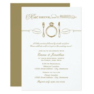 Antique Rehearsal Dinner | Eat Drink Be Married Invitations