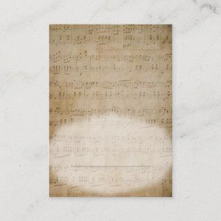 Antique Sheet Music Place Card