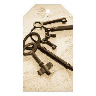 Antique Skeleton Keys on Ring Custom Gift Tags