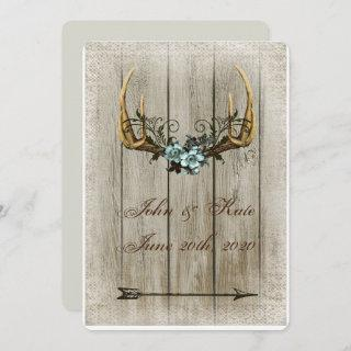 Antlers and Roses Rustic Wedding