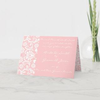 Any Color Damask Wedding Invitations