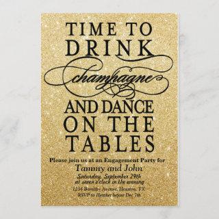 ANY EVENT - Time to Drink Champagne Invitations