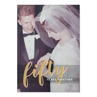ANY YEAR - 50th Wedding Anniversary & Photo Invitations