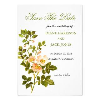 Apple Blossom Watercolor Stems Save The Date Invitations