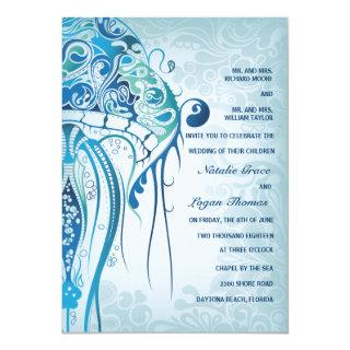 Aquamarine Jellyfish Invitations