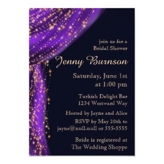 Arabian Nights Purple & Gold Bridal Shower Invitation